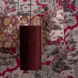 Burgundy red fabrics for home decoration   Tessuti rosso borgogna per arredamento